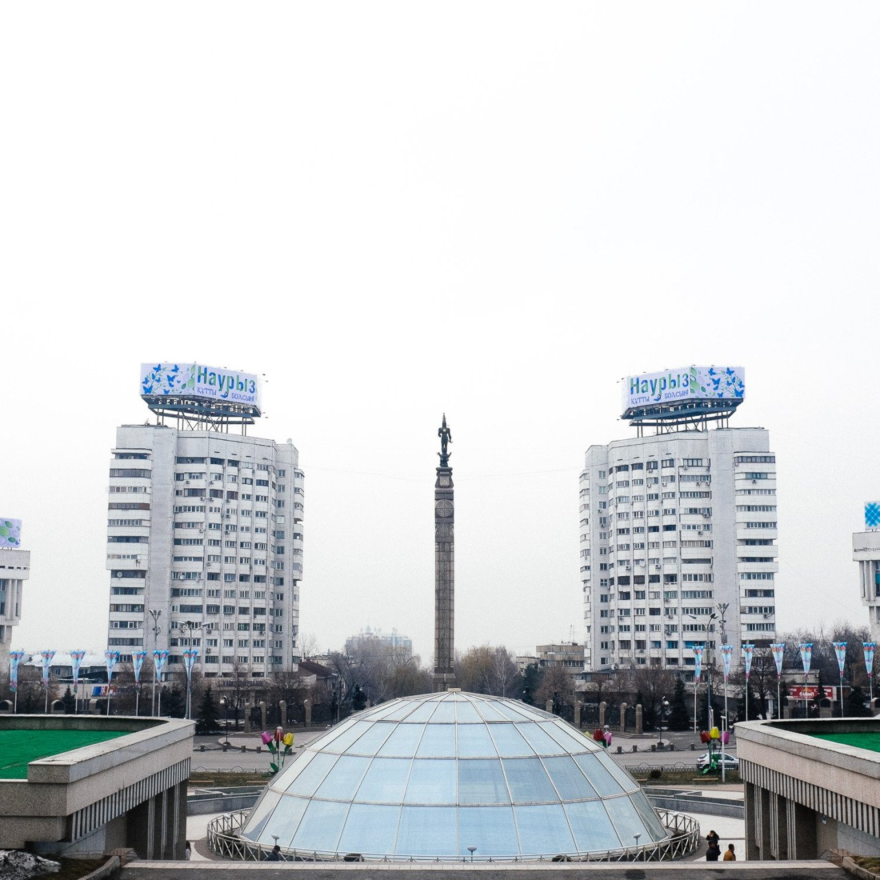 Examples of Soviet-era architecture in Almaty. Image: Dastan Zhumagulov