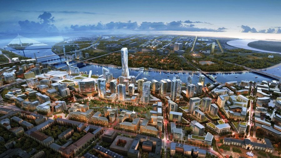 Rendering of the proposed development by Eagle Hills on the Belgrade waterfront. Image: Thebardsim under a CC licence.