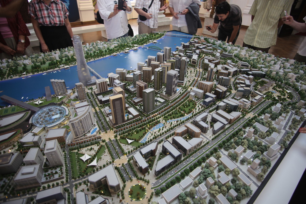Scale model of the proposed development by Eagle Hills on the Belgrade waterfront. Image: dezindzer under a CC licence.