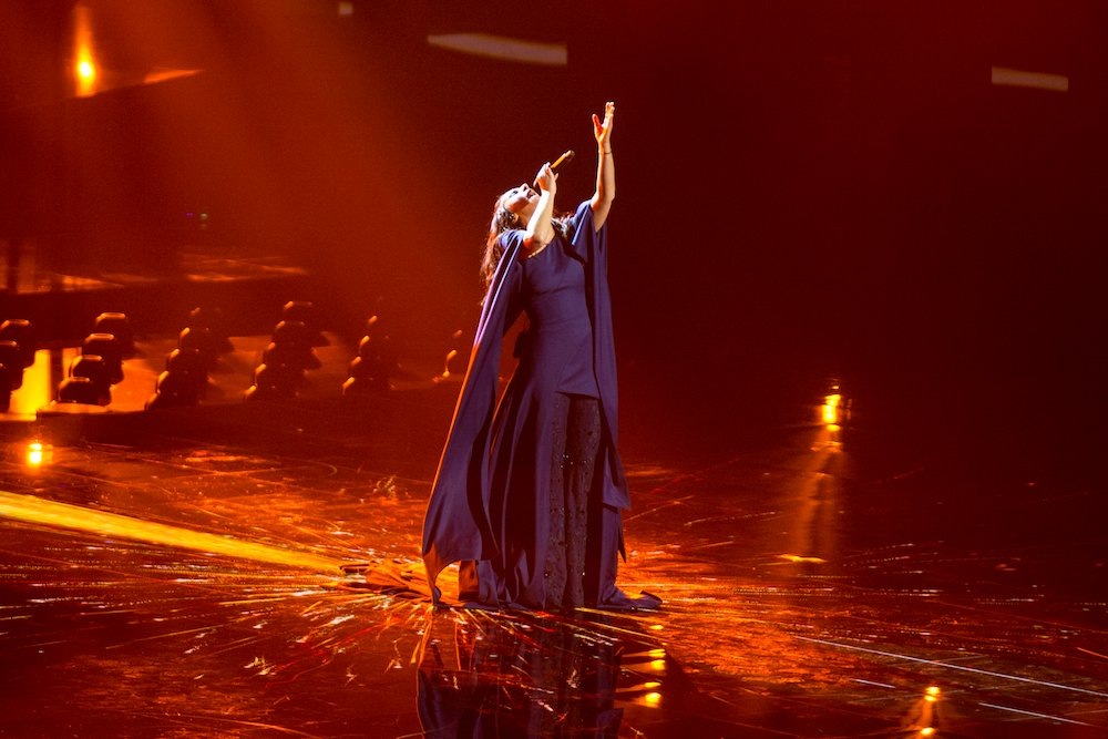 Jamala performing <em>1944</em> at the 2016 Eurovision Song Contest. Image: Albin Olsson under a CC licence