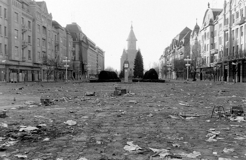 Victory Square in 1989. Image: Fortepan 31915 under a CC licence