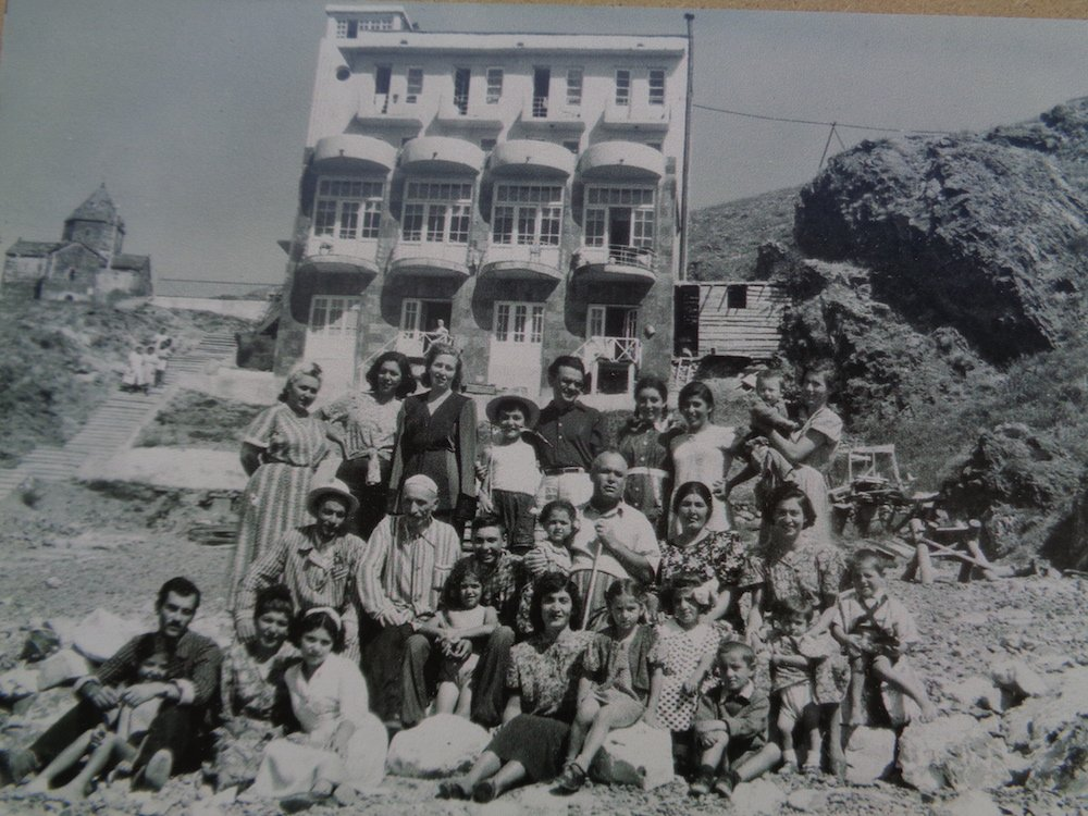 Guests at the Resort in the pre-war years, in a photograph currently on display at the Resort. Image: Owen Hatherley