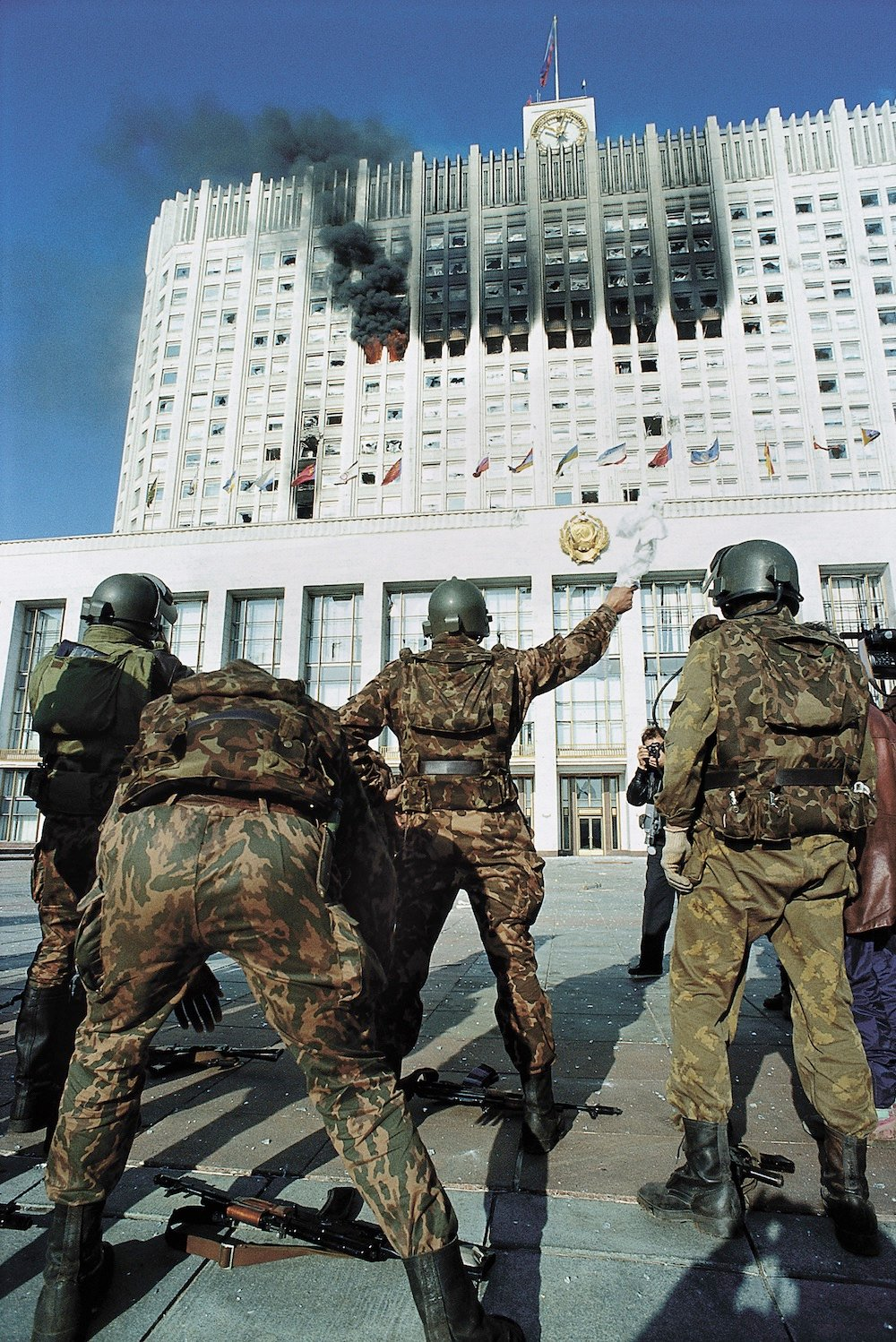 The bombardment of the parliament building in October 1993