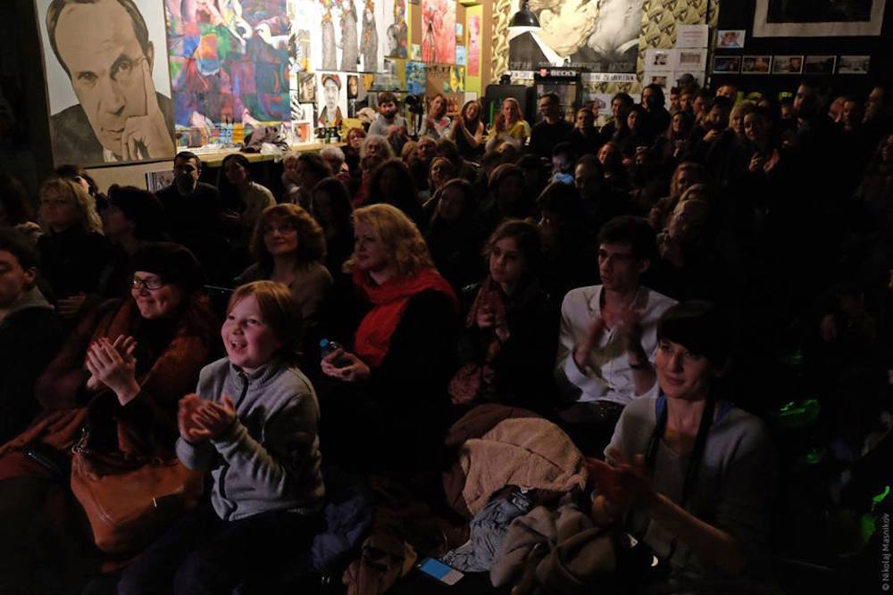 "The crowd at Panda ""Not Only Russian"" Theatre. Image: Nikolaj Masniko/Liveberlin.ru"