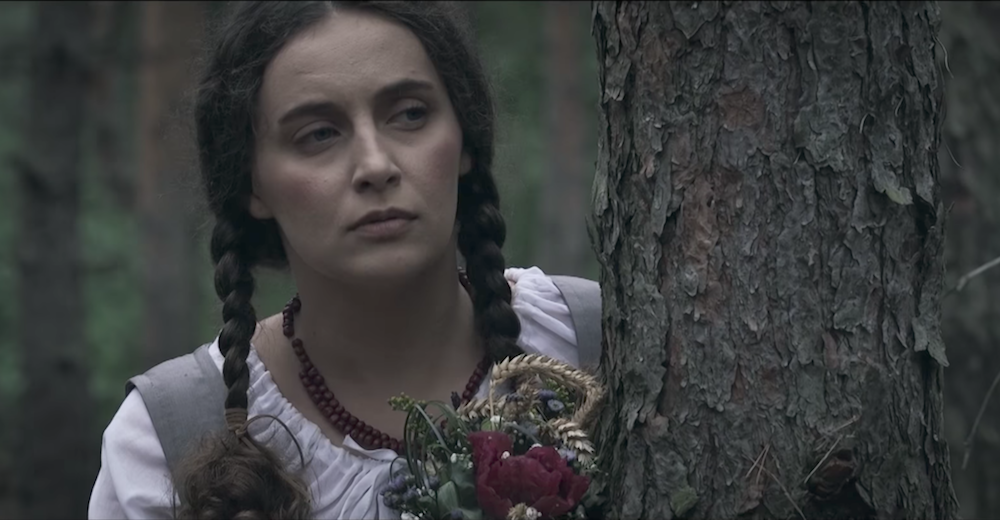 Aleksandra Hejda as Karolina Kózkówna in <em>Broken Ear</em>. Image: Youtube