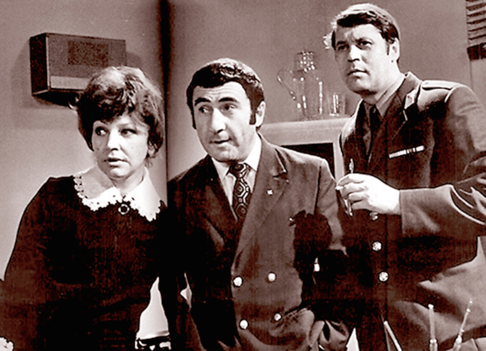 Georgy Martyniuk, Leonid Kanevsky and Elza Lezhdey as the detectives of <em>Investigation Held by ZnaToKi</em> (1971-1989)