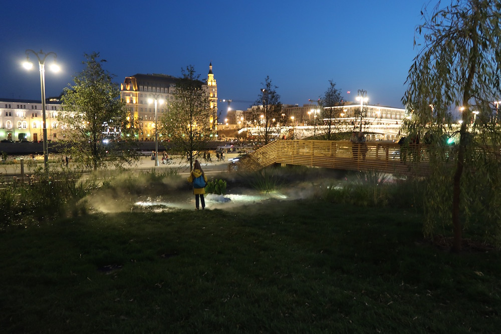 The park at night. Image: Michał Murawski