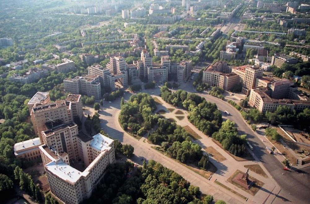 Aerial view of Freedom Square. Image: Shmuliuko under a CC licence