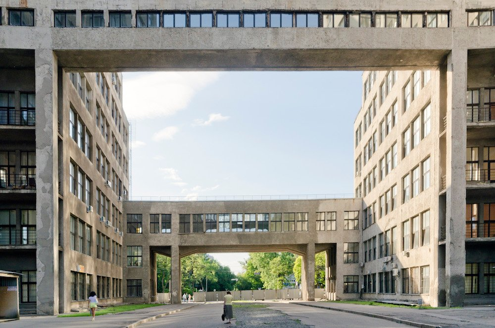 Walkways of the Derzhprom building. Image: Oleksandr Burlaka under a CC licence
