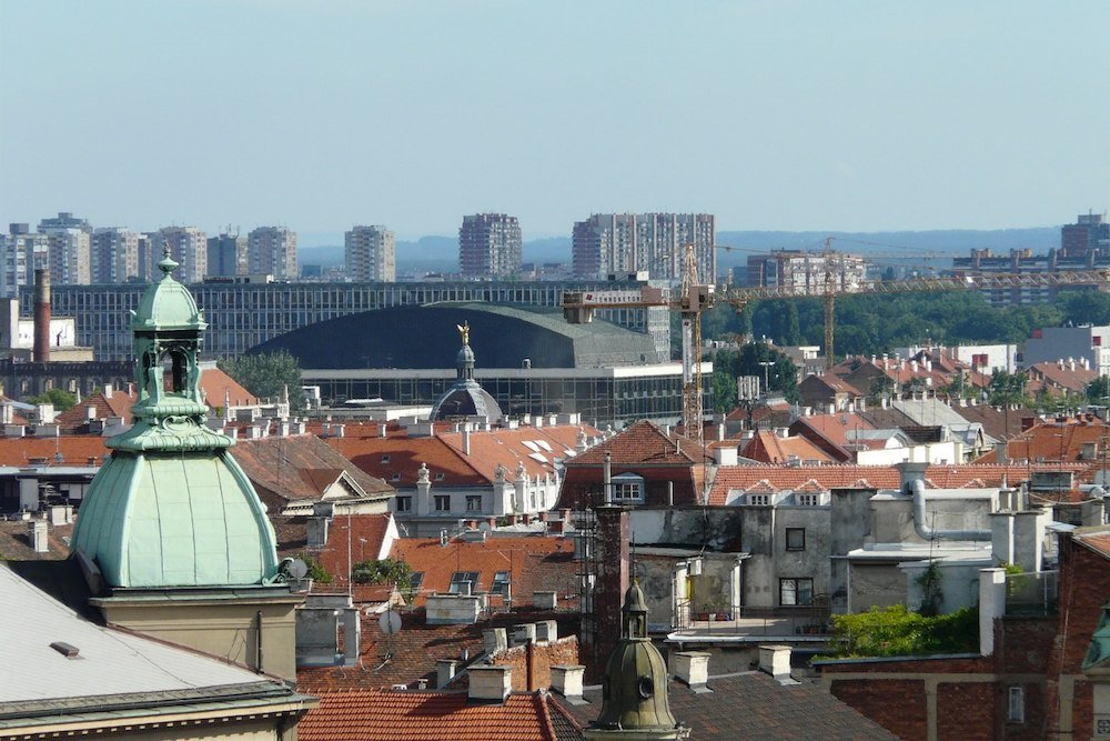 View over central Zagreb, with Novi Zagreb in the distance. Image: cneoridium under a CC licence