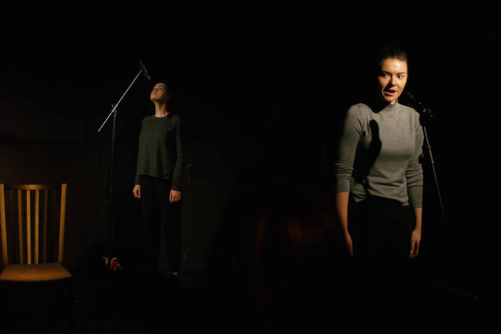 Performance of <em>Unequal</em> as part of the political theatre series. Image: Ronald Ibold/MACAZ - Bar Teatru Coop/Facebook