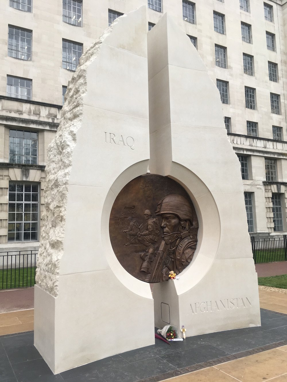 Paul Day's memorial to the British invasions of Afghanistan and Iraq. Image: No Swan So Fine under a CC licence