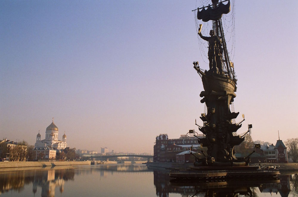 Zurab Tsereteli's notorious Peter the Great monument on the Moskva River. Image: yeowatzup under a CC licence