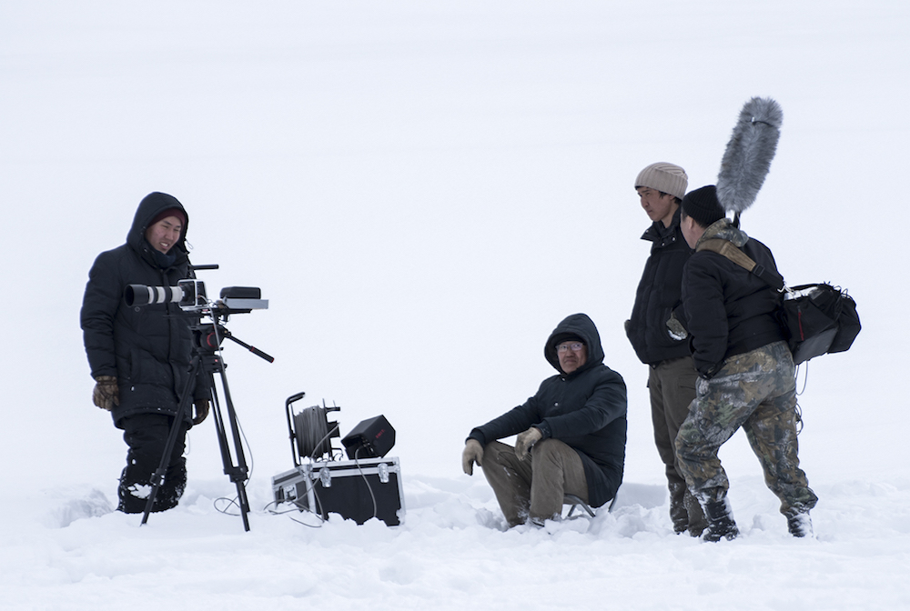 Yakut filmmakers have to battle severe conditions to tell their stories. On the set of <em>Aanchyk</em>, dir. Nikita Arzhakov (2006). Image courtesy of Sakhafilm