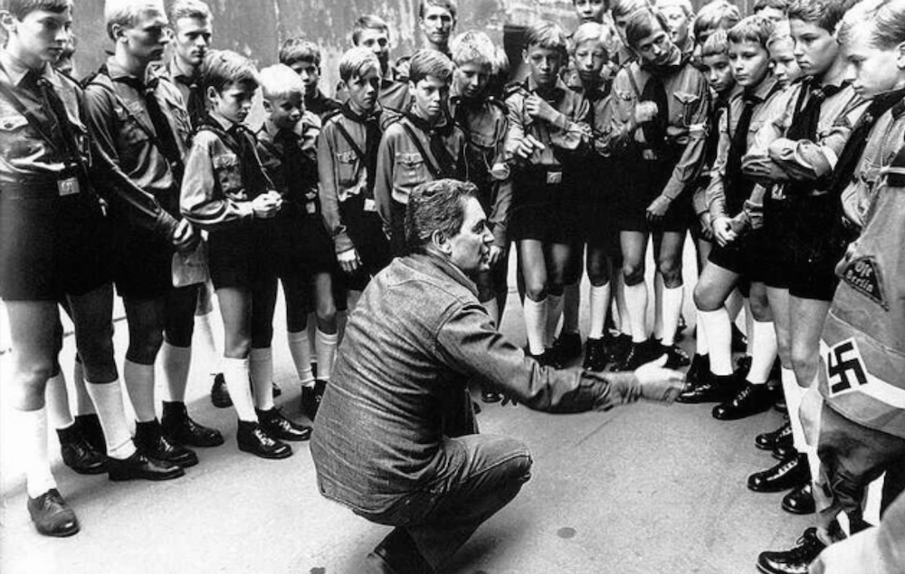István Szabó directs children portraying Hitler Youth cadets on the set of <em>Mephisto</em>