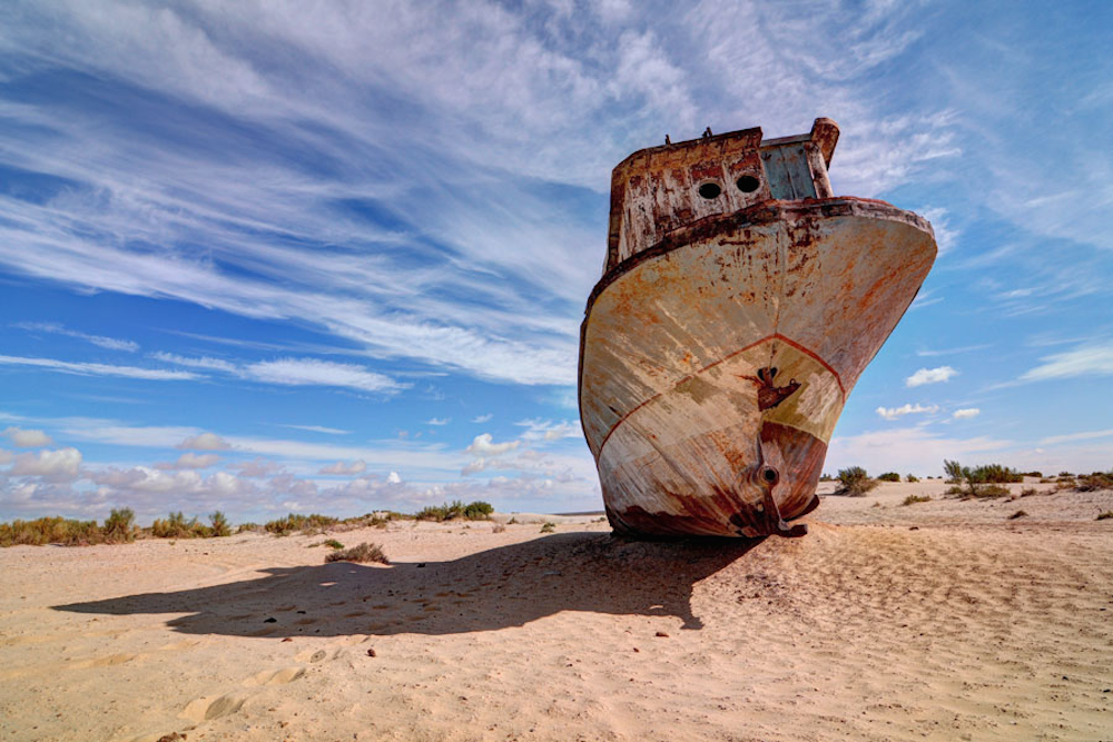 A beached ship outside Moynaq, the Aral town that will host Stihia. Image: Stihia Festival