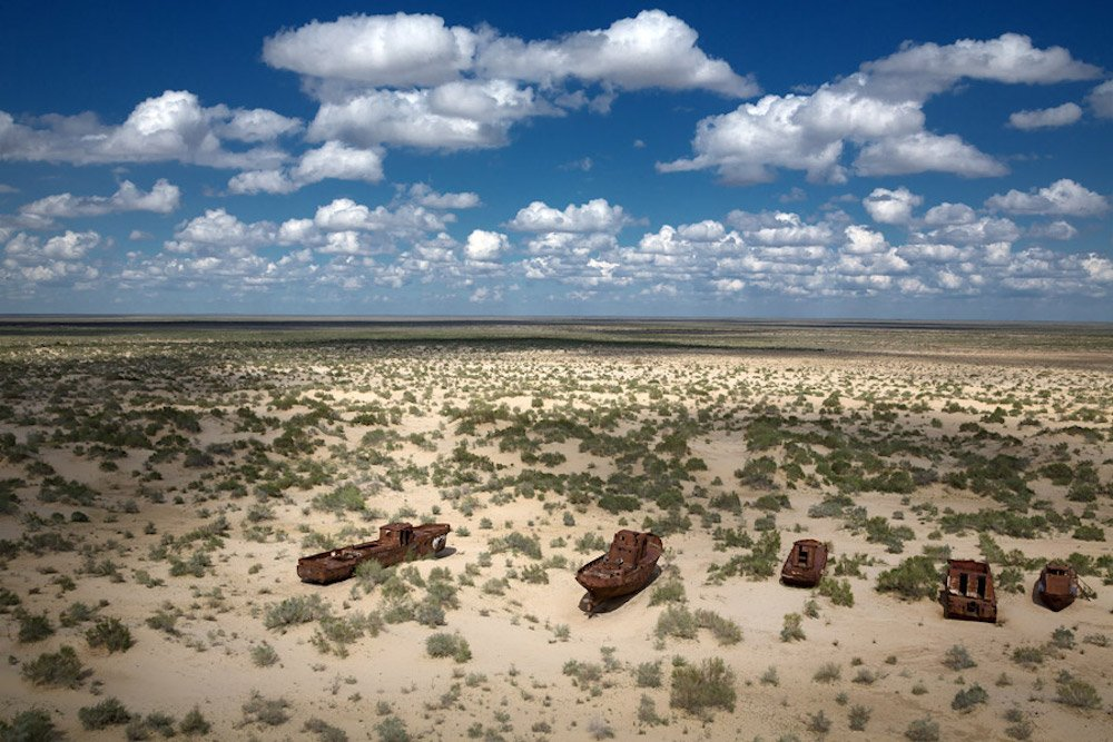 The desertification of the Aral Sea is one of the gravest environmental disasters of the 20th century. Image: Stihia Festival