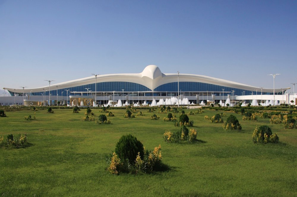Turkmenistan's new falcon-shaped airport: Image: Felix Lowe