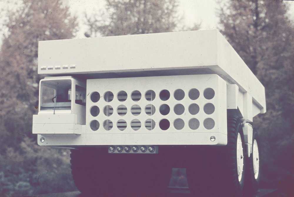 BelАЗ-540 truck, 1965. Image from the archive of the Moscow Design Museum
