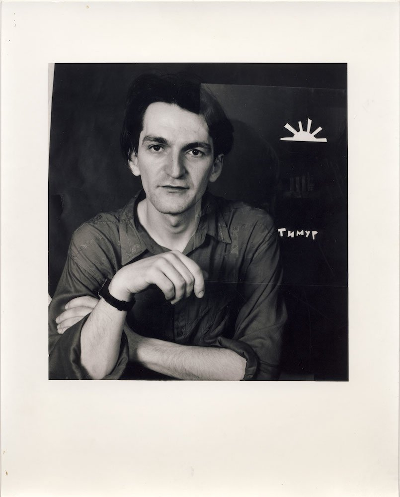 Portrait of Timur Novikov in New York (1990). Photograph: Peggy Jarrell Kaplan courtesy of Novikov's archive