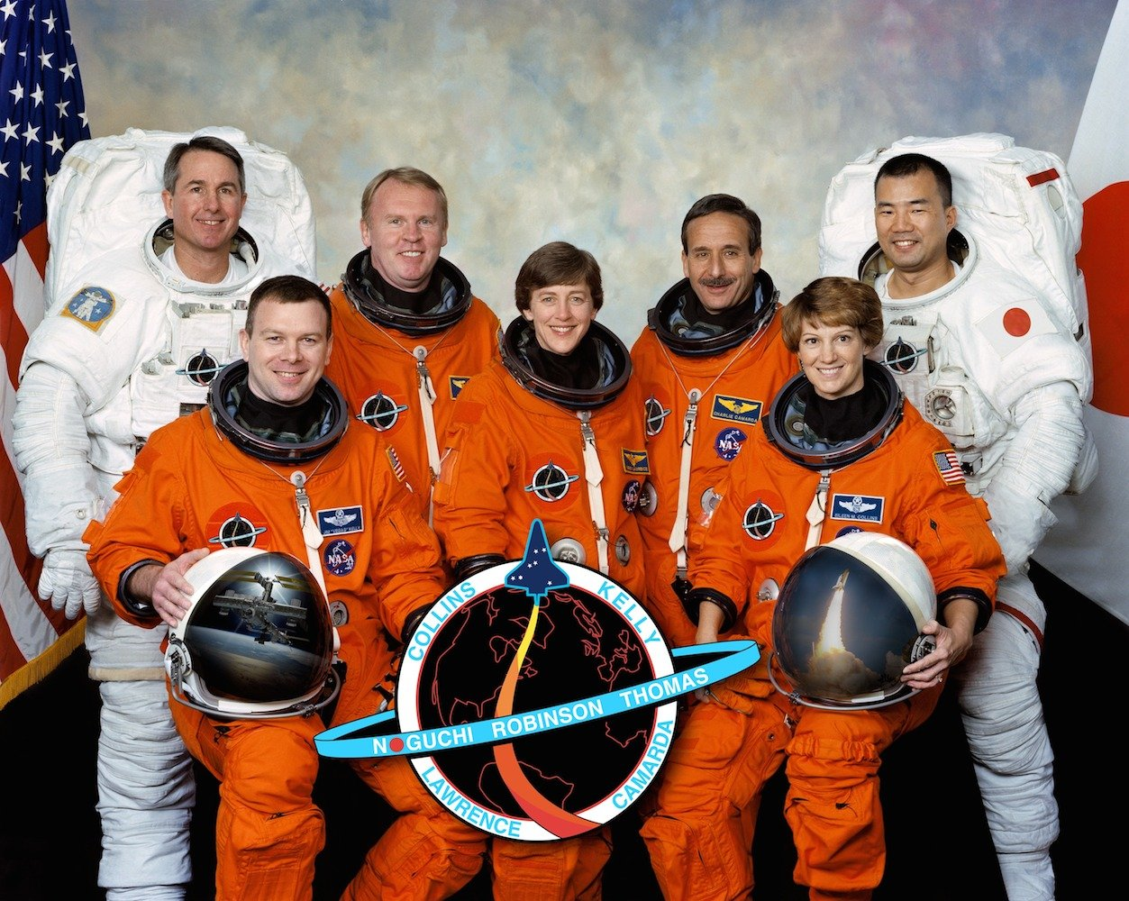 The team of STS-114, sent to space by NASA in July 2005