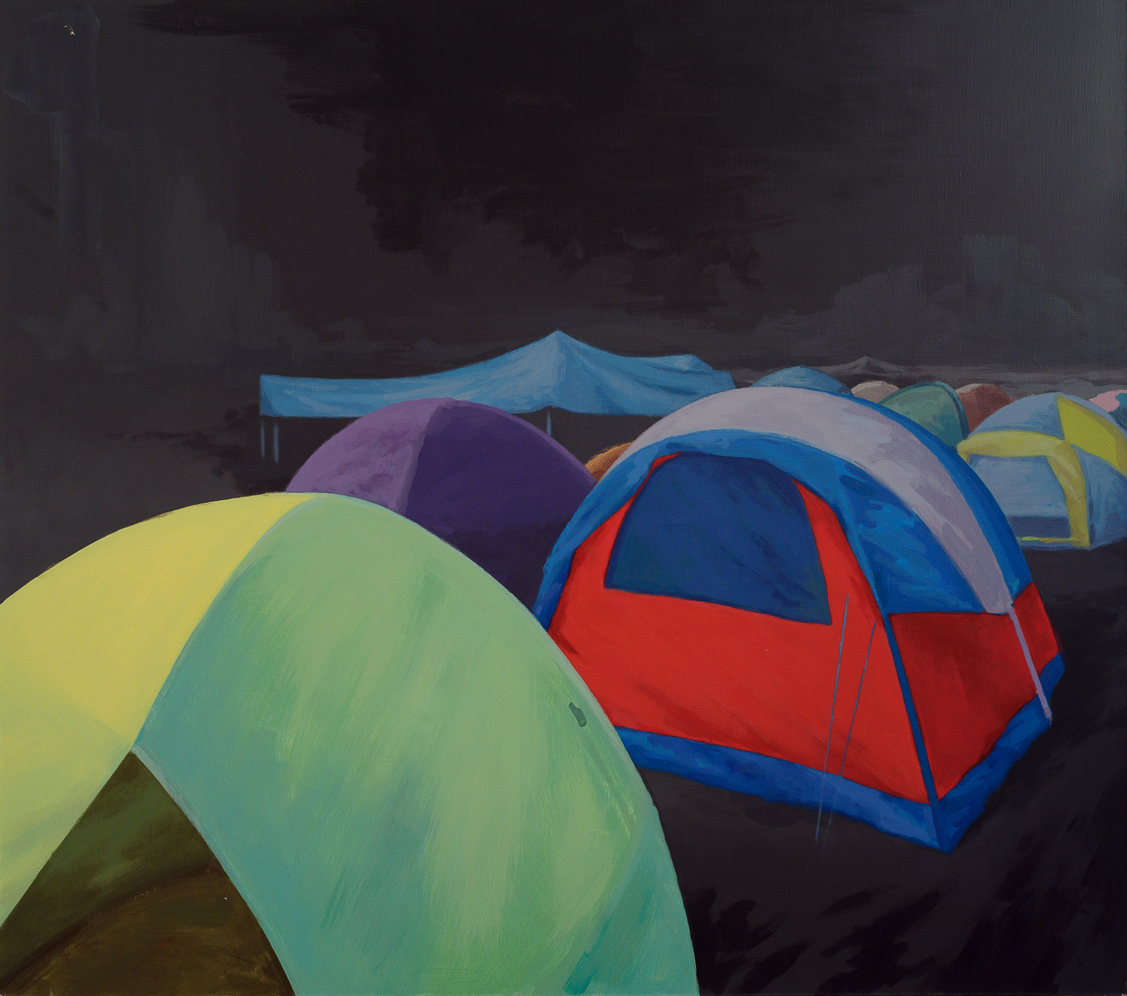 Stas Shuripa, Tent-city, acrylic on canvas (2012)