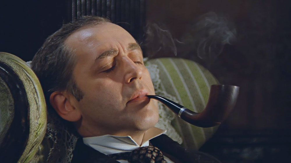 Vasily Livanov as Sherlock Holmes in <i>The Adventures of Sherlock Holmes and Dr Watson</i> (1979-1986), the most beloved Russian Sherlock, dir. by Ivan Maslennikov