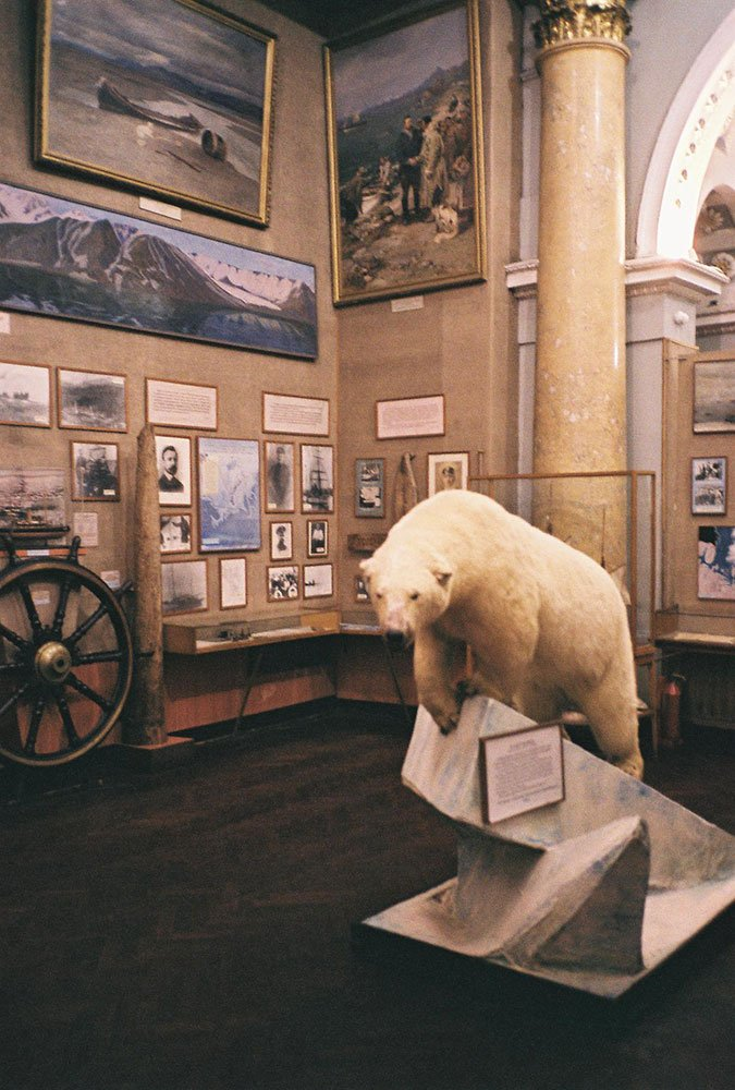 Displays at the Museum of the Arctic and Antarctic in St Petersburg. Photograph: Arthur Shuraev under a CC licence