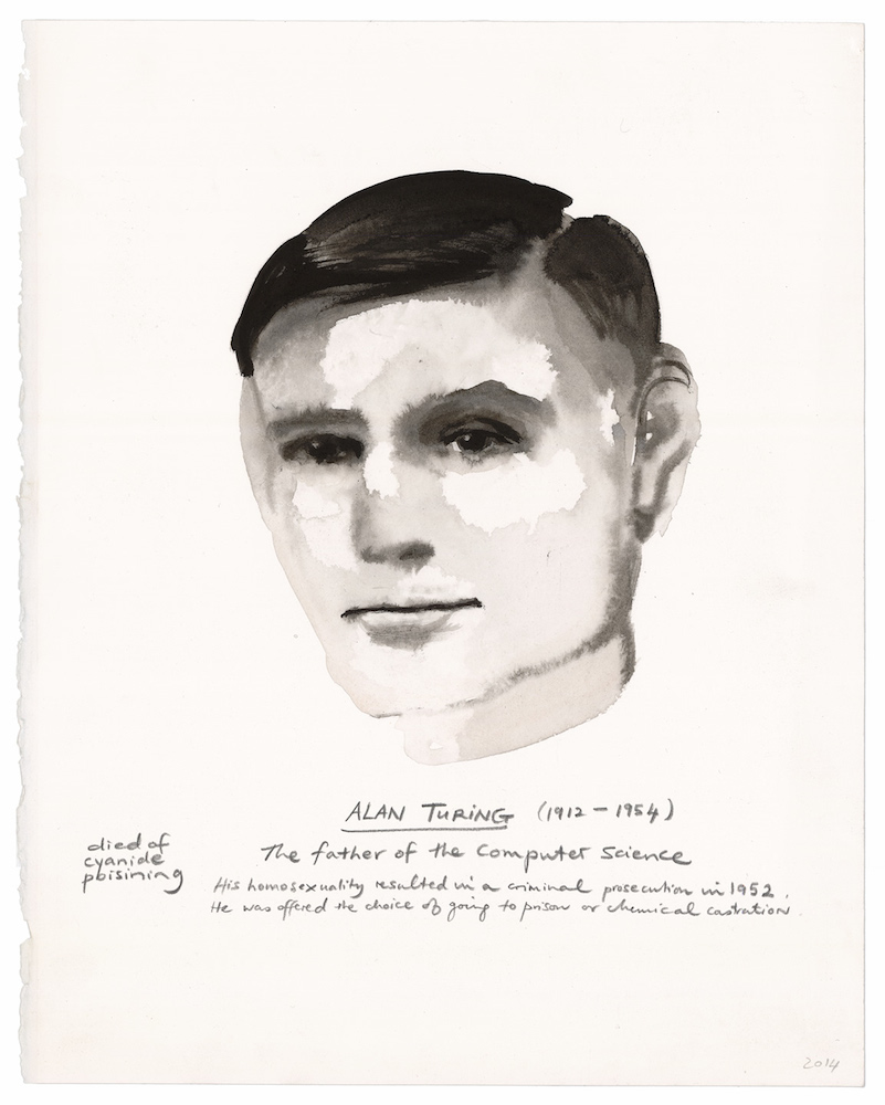 Marlene Dumas, Alan Turing (2014). Image: courtesy of the artist. New commission for Manifesta 10