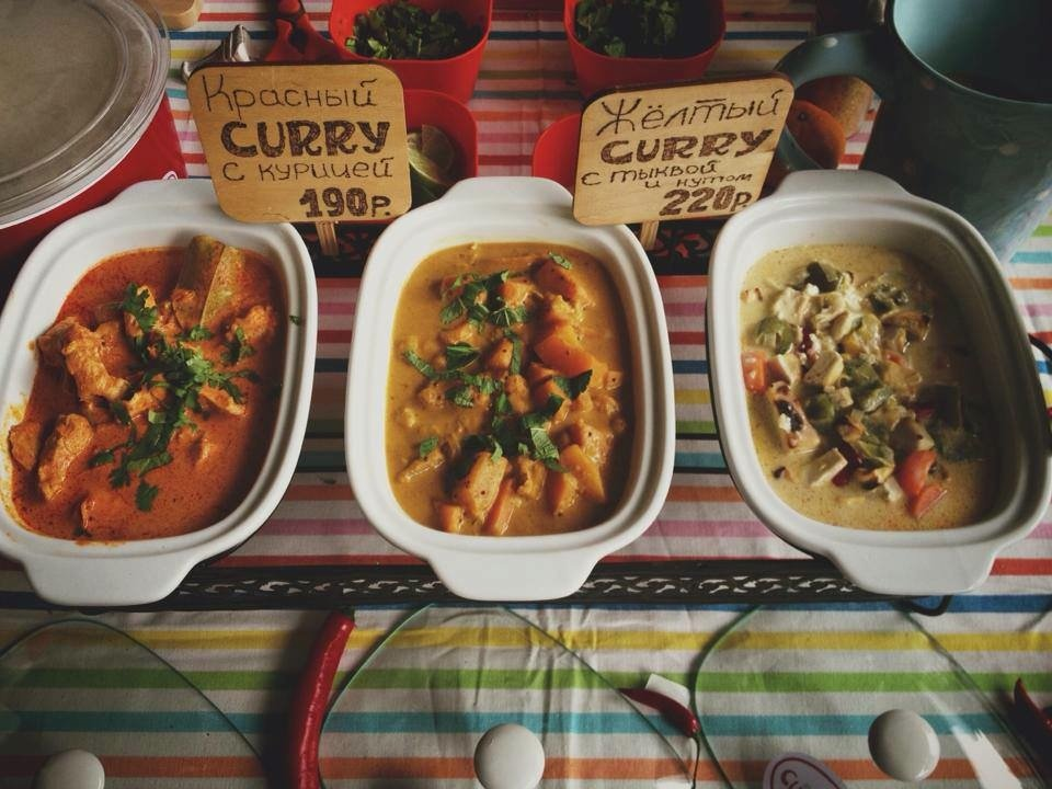 A selection of Thai curries from Curry Me
