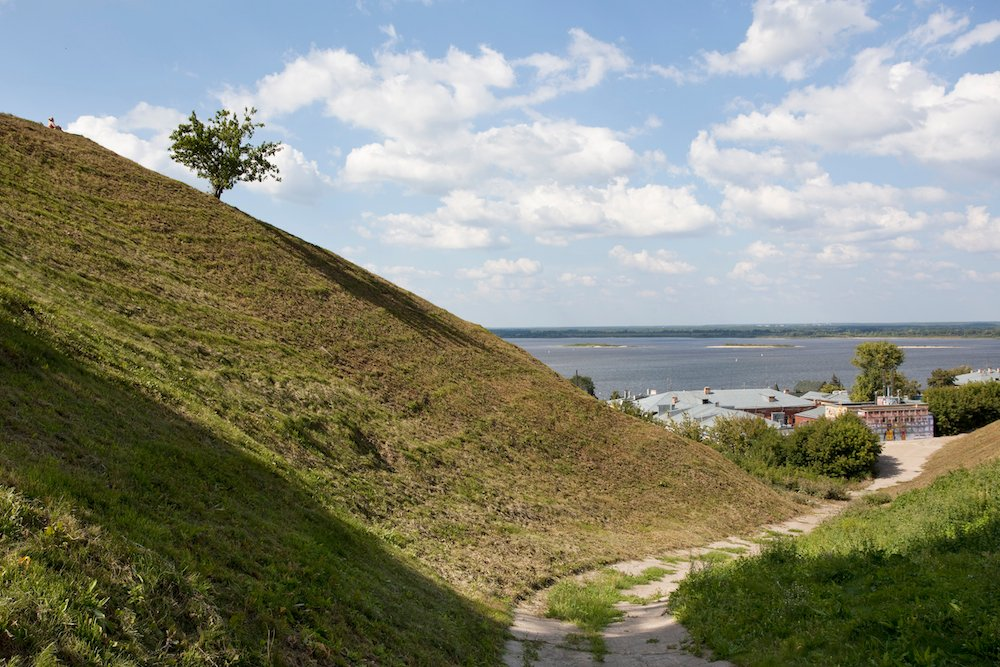 The hilly upper part of Nizhny Novgorod