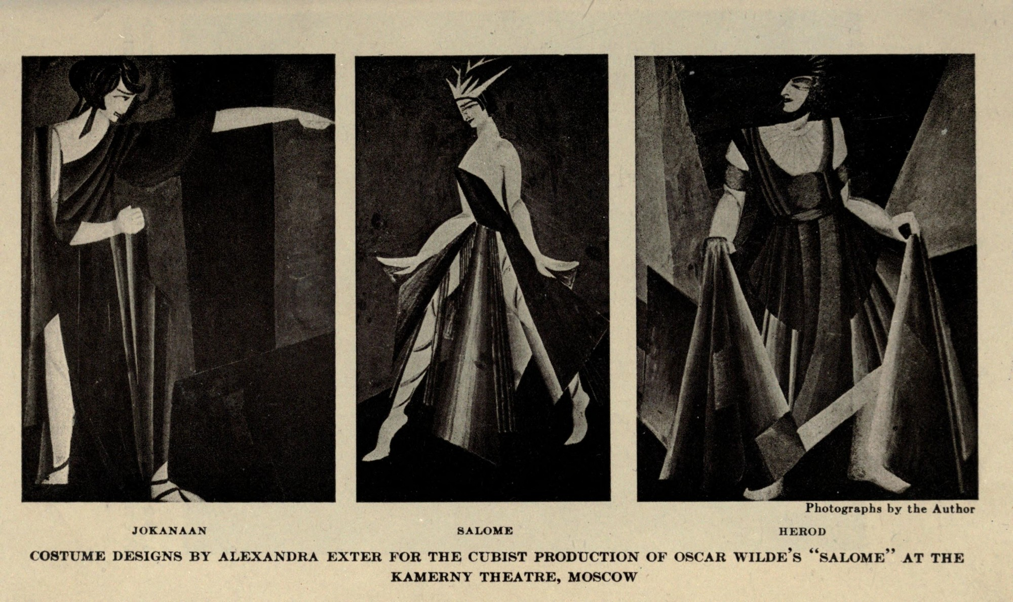 Sketch of the costumes for <i>Salome</i> by Alexandra Ekster