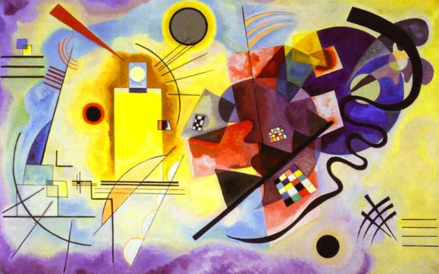 <i>Yellow-Red-Blue</i>, by Wassily Kandinsky