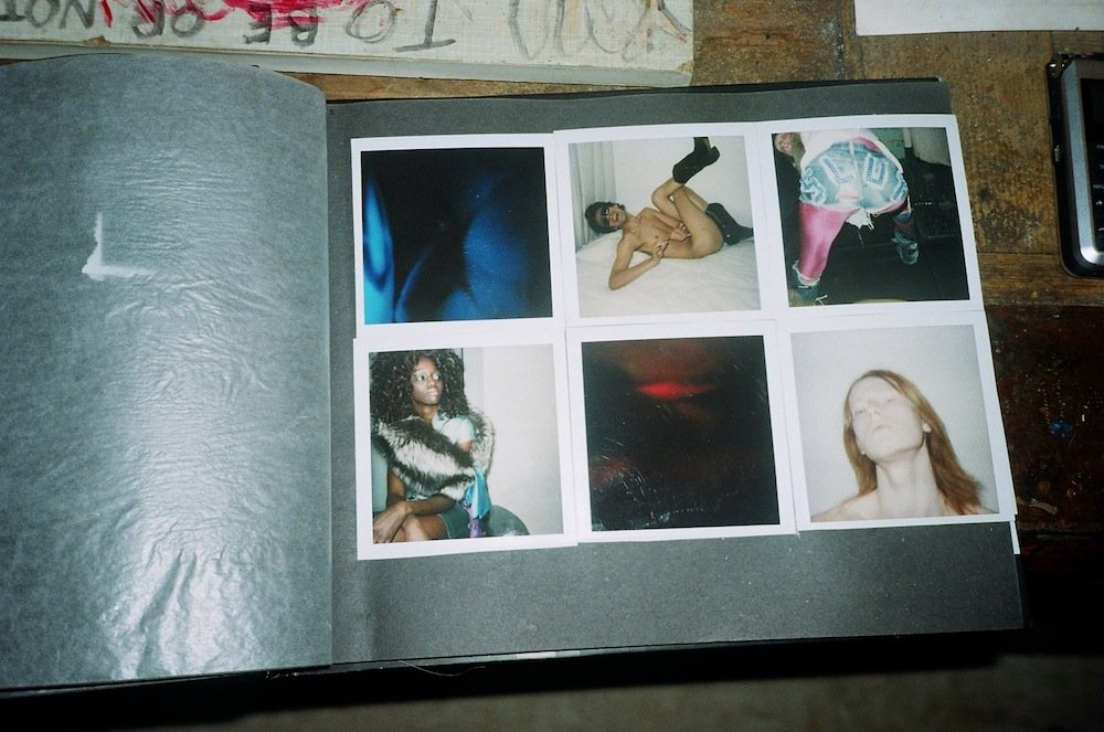Polaroids from the early days of fashion career