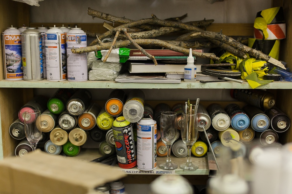 Spray paints and other essential equipment