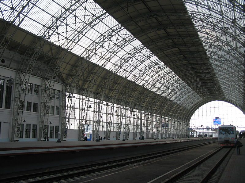 Kiev Train Station in Moscow. Roof designed by Shukhov.