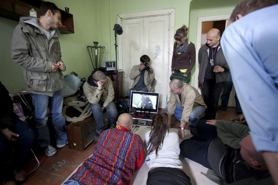 On set of Chrono Eye for The Fourth Dimension (2012)