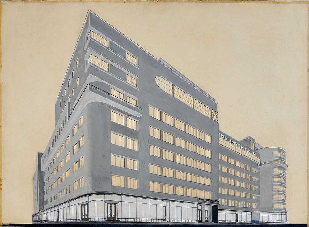 Original drawing of Narkomzem Building (Moscow, 1928) by Alexey Shchusev. (Image: The Archive of A.M. Shchusev)
