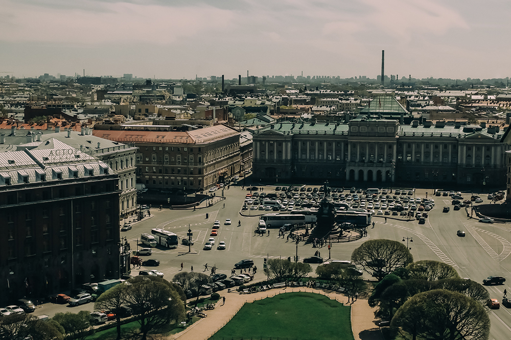 The view from St Isaac's Cathedral. Image: Daria Piskareva and Serj Berezkin