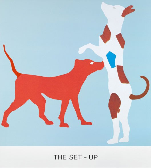 John Baldessari, Double Feature: The Set-Up (2011). Courtesy of the Collection of Craig Robins and Jackie Soffer, Miami. © John Baldessari