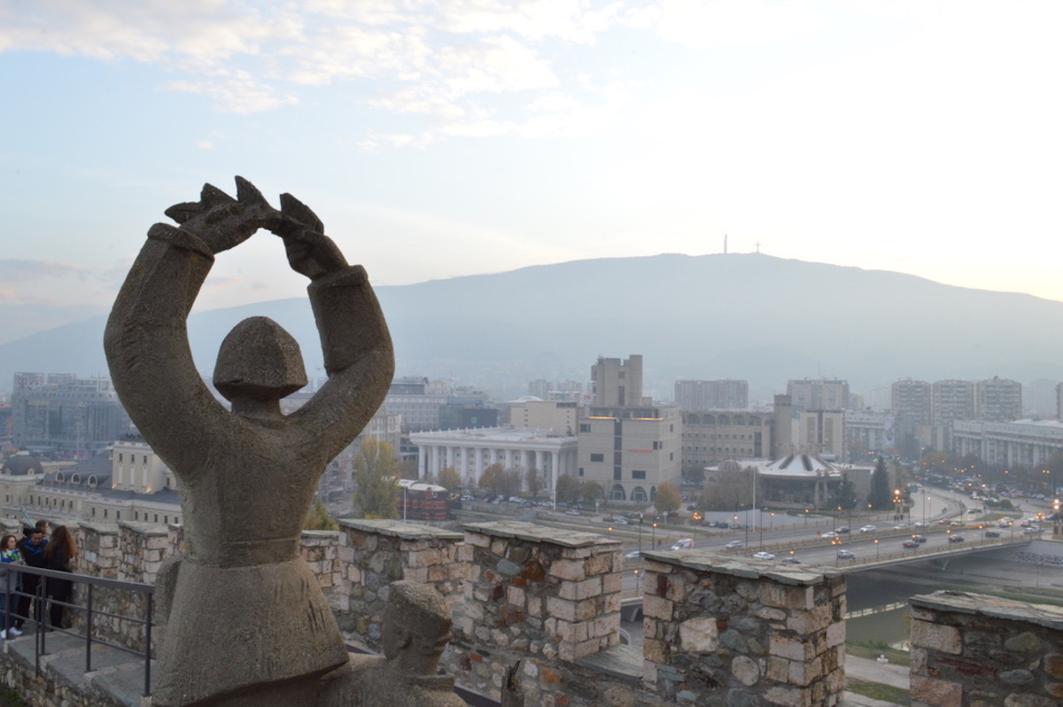 The view from the Skopje Fortress. Image: Elise Morton
