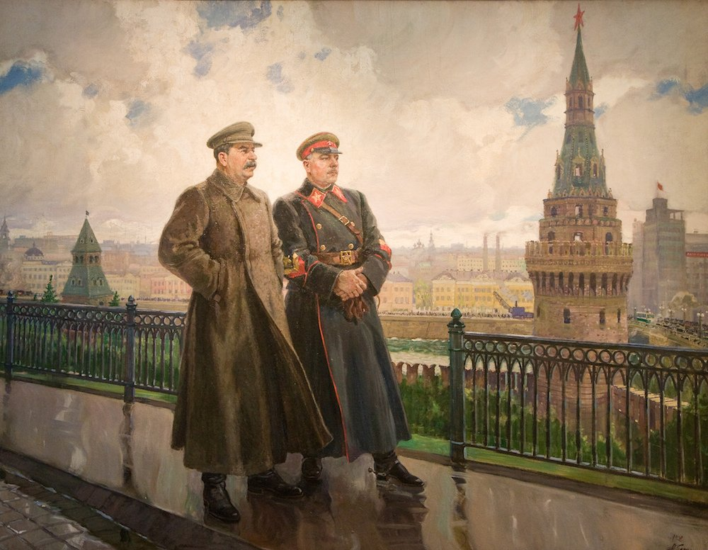 Alexander Gerasimov, <em>Stalin and Voroshilov at the Kremlin</em> (1938)