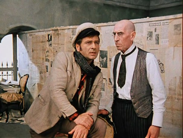 Archil Gomiashvili (left) as Ostap Bender in The Twelve Chairs (1971)
