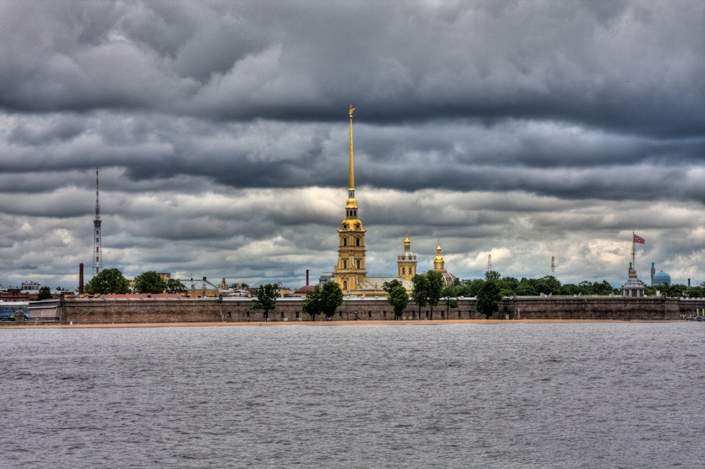Peter and Paul Fortress and Cathedral, St Petersburg (1707-40), designed by Domenico Trezzini