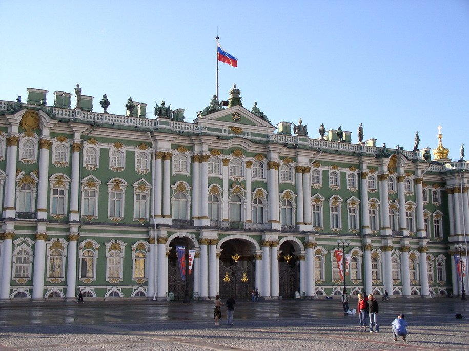 Winter Palace, St Petersburg (1759), designed by Francesco Rastrelli