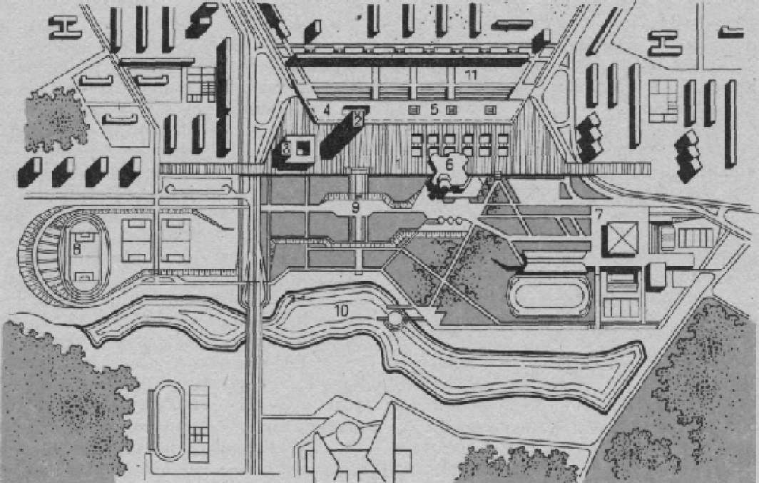 Plan of Zelenograd, near Moscow (c 1960)