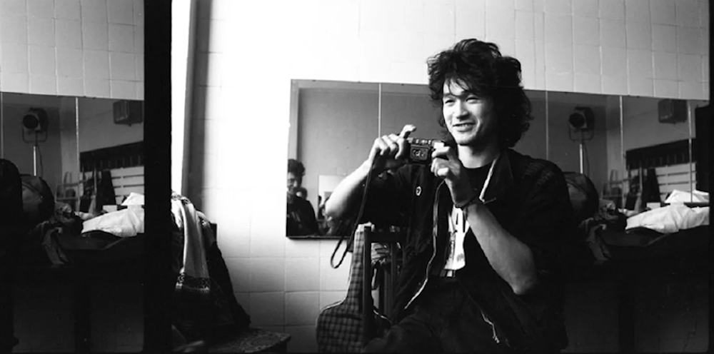 Viktor Tsoi, photographed by Igor Moukhan in 1987. Image: Histolines / Facebook