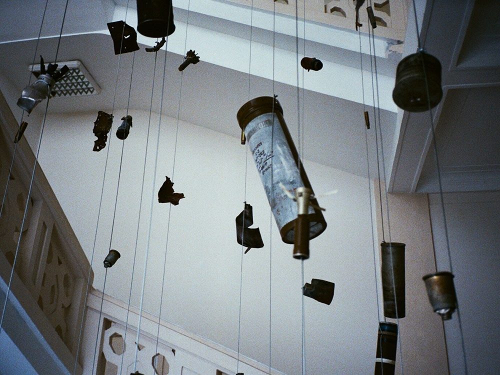 Installation made of missiles by Nikita Kadan at the National Museum of the History of Ukraine