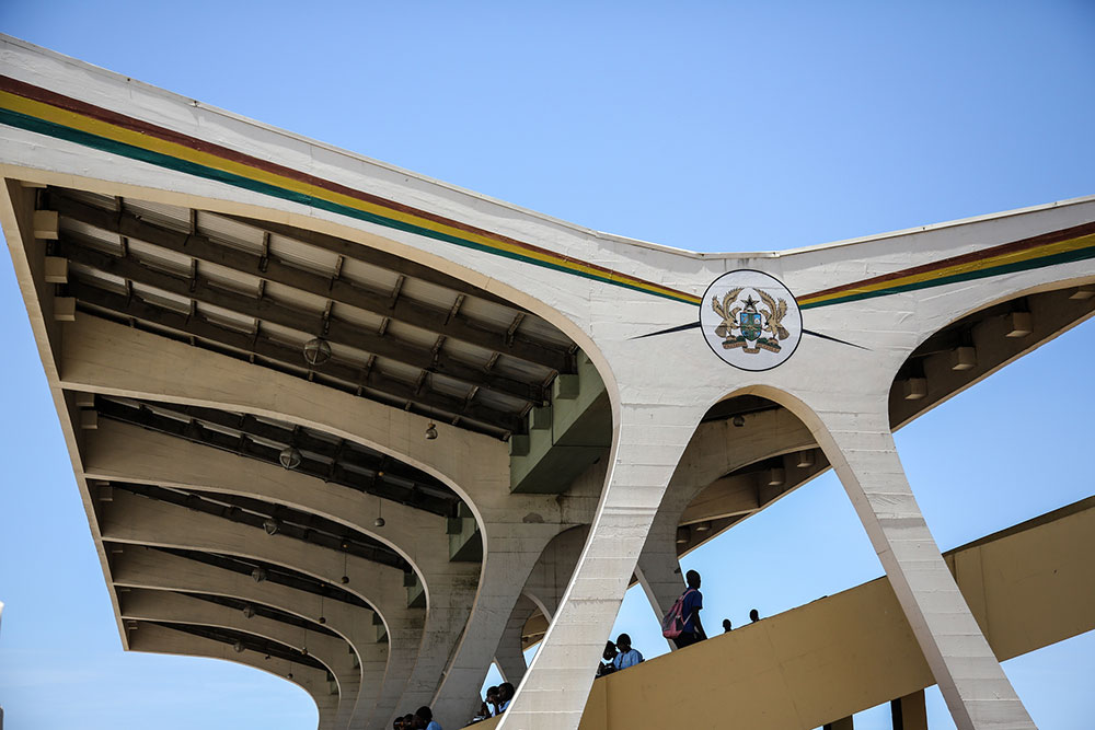 independence Square seating, Accra. Image: CC Chapman under a CC licence