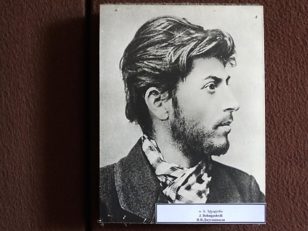 Photograph of the young Stalin on display at the museum. Image: Adam Jones under a CC licence